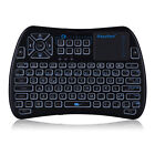 iPazzPort 2.4GHz WiFi Wireless Mini Keyboard 3 Backlight Function USB W/Touchpad