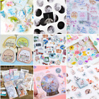 Внешний вид - 46PCS Retro Stamps Stickers Kawaii Stationery DIY Scrapbooking Diary Stickers HS
