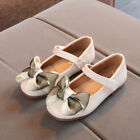 Toddler Baby Infant Girl Child Kid Bowknot Leather Single Party Princess Shoes L