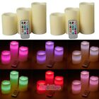 "Внешний вид - 6x 4""5""6"" Colors Gradual Changing LED Flameless Pillar Candles with Remote Timer"
