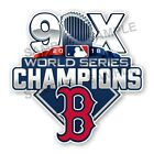 Boston Red Sox 9 Times World Series Champions Precision Cut Decal on Ebay