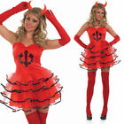 Women's Sexy Devil Costume - Halloween Fancy Dress Sexy Naughty Women