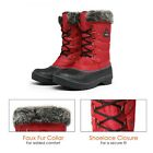 Внешний вид - DREAM PAIRS Women DP Warm Faux Fur Lined Mid Calf Lace Up Winter Snow Boots