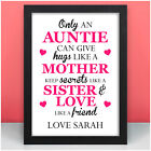 Only An Auntie PERSONALISED Birthday Gifts for Auntie Aunt Aunty Gift Presents