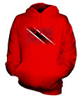 TRINIDAD AND TOBAGO DISTRESSED FLAG UNISEX HOODIE TOP TRINIDADIAN TOBAGONIAN