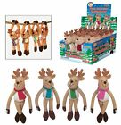 Plush Hanging Velcro Xmas Reindeer Christmas Decoration Grotto Tombola  LuckyDip