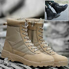 Latest Mens Combat Boots Round Toe Desert Battle Boots Ankle Protection Shoes