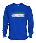 SIERRA LEONE DISTRESSED FLAG UNISEX SWEATER TOP LEONEAN SHIRT FOOTBALL JERSEY