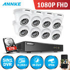 ANNKE 8CH 3MP HD H.264+ DVR 1080p 2MP Starlight IR CCTV Security Camera System