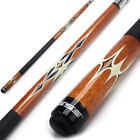 "58""  2-Piece Canadian Maple Wood Billiard Pool Cue Stick (Brown, Avail 18-21 Oz) $37.99 USD on eBay"