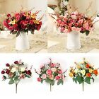 21Heads Artificial Silk Fake Flowers Rose Bouquet Wedding Home Party Decorations