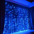 300 LED Fairy String Hanging Curtain Light Outdoor Xmas Party Lights & Remote