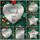 Babys First Christmas Tree Bauble PERSONALISED Gift 1st Xmas Ornament Decoration