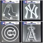 "MLB Team Logo Die Cut Car Sticker MLB Decal 8"" x 8"" (White) Baseball Pick Team on Ebay"