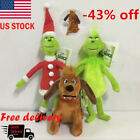 US Xmas Grinch Dolls How the Grinch Stole Christmas Stuffed Plush Kids Toy Gifts
