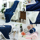 Flannel Fleece Blanket Super Soft Reversible Fuzzy Solid Blanket for Sofa Bed image