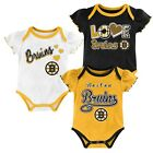 NHL Boston Bruins 3 Pack Infant Girls One Piece Bodysuit Creeper  Choose Size $9.99 USD on eBay