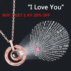 I Love You In 100languages 925 Silver Gold Pendant Necklace For Memory Of Love R