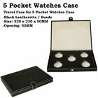 Travel Wrist Watch Box Leather Storages, Various Cases for 1 / 5 Pocket Watches image