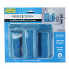 INTERDESIGN 23243 POWER CLING TOOTHBRUSH & RAZOR CENTER