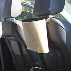 E554 Car Bin Auto Leather Litter Bag Basket Leakproof Garbage Holder Vehicle Rac
