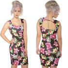 SCUBA WIGGLE PENCIL TROPICAL ORCHID FLORAL DRESS  8-16 ROCKABILLY ALTERNATIVE