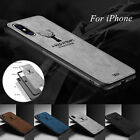 Man Shockproof Bumper Slim Canvas Back For iPhone XR XS Max 7 8 6Plus Case Cover