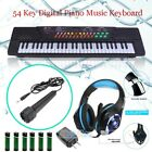 54 key digital music piano keyboard portable musical instrument w microphone us