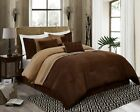 Chezmoi Collection 7-Piece Coffee Brown Western Lodge Micro Suede Comforter Set image