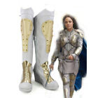 Marvel Thor 3 Valkyrie White Cosplay Shoes Boots  Halloween Christmas 3915