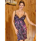 Muddy Girl Chemise Camo PInk and Black Short Gown Nighty S M L XL