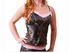 Mossy Oak Camo Camisole Pink Lace Wilderness Dreams Sexy SMALL or XLARGE