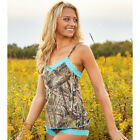 Mossy Oak Break-Up Camo Country Aqua Lace Trim Camisole ONLY 2XL or 3XL