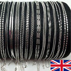 16-30 Inch Multiple Styles Sliver-plated Women's Necklace Chain Jewelry Gift Uk