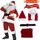 5 Sets Christmas Santa Claus Costume Fancy Dress Adult Suit Cosplay Party Outfit