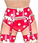 Westward Bound Cirque-Sucre Latex Suspender Belt Pearl Sheen Red