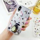 Cute Totoro Japan Cartoon Soft  Phone Case Cover For iPhone XR Xs Max 8 7 6sPlus