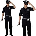 Mens New York Cop Fancy Dress Costume Mens US Police Outfit New
