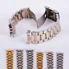 Stainless Steel Metal Strap Watch Band Clasp Bracelet 18/20/22/24mm US image