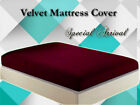1 PC High Quality Velvet 14''ht Mattress Cover In Fresh Color For Home Decor