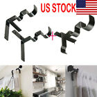 US Kwik Hang Double Center Support Curtain Rod Bracket Into Window Frame Bracket