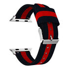 Sports Military Nylon Canvas Fabric Wristwatch Band Strap for Apple Watch iWatch