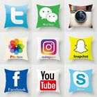 Us Luxury Microfibre Social Media Cushion Covers Decorative Pillow Cover 16x16