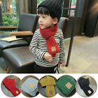 Внешний вид - Winter Fashion Kids Knitting Wool Scarf Collar Baby Boys Snood Velet Warm Newest