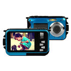 2.7'  Digital Camera Waterproof 24MP 1080P Double Screen Under Water Camcorder
