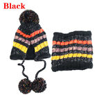 Snow Scarf Set Fashion Women Knitted Hat Thick Collars Neck Warmer Ball Caps