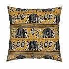 African Art Memphis Brooks Throw Pillow Cover w Optional Insert by Roostery