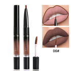 Waterproof Makeup Beauty Lip Gloss Liquid Lipstick Lip liner Pen Double Head