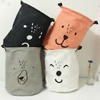 Useful Baby Kids Toy Canvas Laundry Basket Storage Bag Leather Handbag Bag US