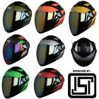 Steelbird Air SBA-2 Streak Full Face Helmet with Extra Transparent Visor M, L